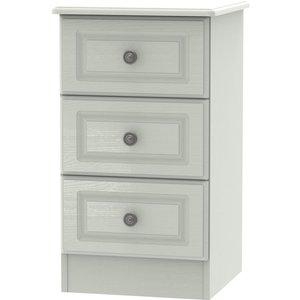 Welcome Furniture Pembroke Kaschmir Ash 3 Drawer Bedside Cabinet, Kaschmir Ash