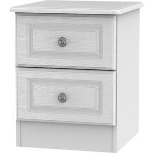 Welcome Furniture Pembroke White 2 Drawer Bedside Cabinet, White