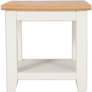 Indian Furniture Company Perth Lamp Table - Oak And Ivory Painted