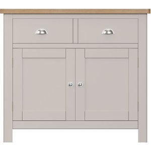 Scuttle Interiors Portland Medium Sideboard - Oak And Dove Grey Painted