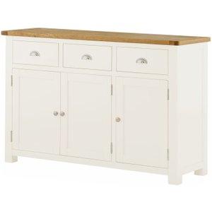 Classic Furniture Portland Medium Sideboard - Oak And White Painted