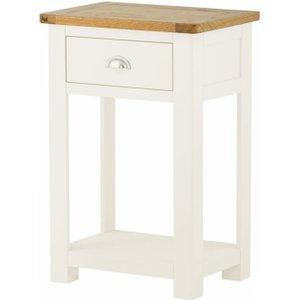 Classic Furniture Portland Small Console Table - Oak And White Painted