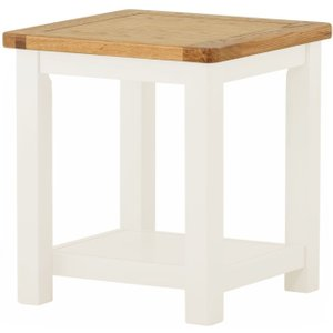 Classic Furniture Portland Small Lamp Table - Oak And White Painted