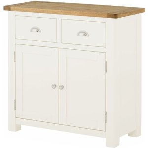 Classic Furniture Portland Small Sideboard - Oak And White Painted
