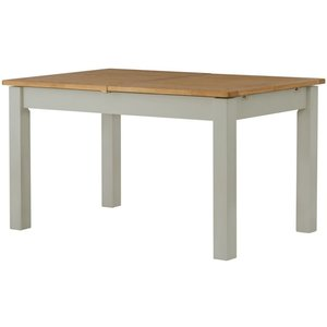 Classic Furniture Portland Stone Painted 120cm-200cm Draw Leaf Extending Dining Table, Stone Grey Painted