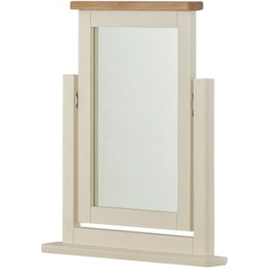 Classic Furniture Portland Oak And Cream Painted Dressing Table Mirror, Cream Painted