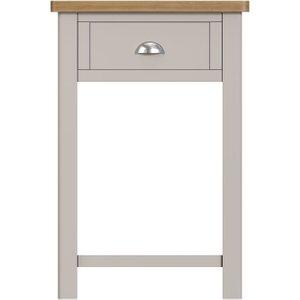 Scuttle Interiors Portland Telephone Table - Oak And Dove Grey Painted, Dove Grey Painted