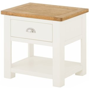 Classic Furniture Portland White Painted 1 Drawer Lamp Table