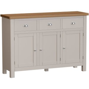 Scuttle Interiors Portland Wide Sideboard - Oak And Dove Grey Painted