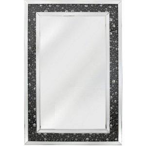 Deco Home Porto Black Gem Wall Mirror - 80cm X 120cm, Mirrored