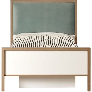 Minturk Purley Kids Oak And White Bed