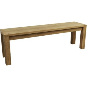 Qualita Goliath Oak Dining Bench For 150cm Table, Linseed Oil