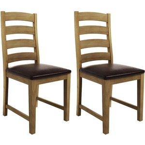 Qualita Goliath Oak Dining Chair (pair), Linseed Oil
