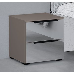 Rauch 20up Bedside Cabinet With Mirror Front