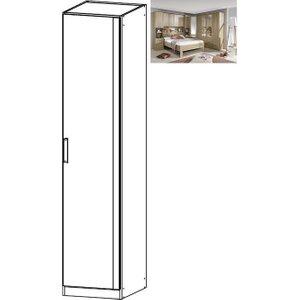 Rauch Rivera 1 Door Wardrobe With Cornice In Sonoma Oak, Sonoma Oak
