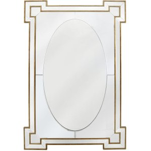 Deco Home Rectangular Wall Mirror - Gold And Silver 80cm X 120cm