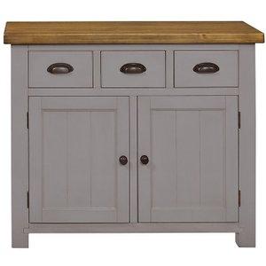 House Brands Regatta Grey 2 Door 3 Drawer Narrow Sideboard