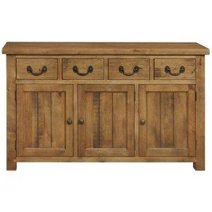 House Brands Regatta Rustic Pine 3 Door 4 Drawer Wide Sideboard