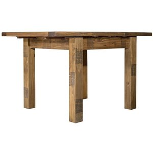 House Brands Regatta Rustic Pine Square 90cm-130cm Extending Dining Table, Rustic