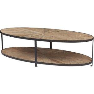 House Brands Renton Industrial Reclaimed Elm Oval Coffee Table