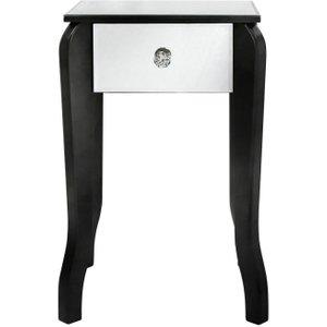Deco Home Ribera Mirrored Black Trim Small Lamp Table