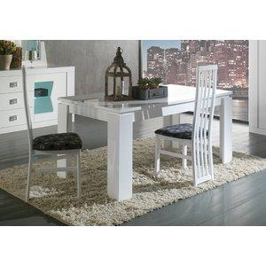Sicily Designs Ribera White Italian Extending Dining Table, White