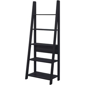 Timber Art Design Uk Riva Black Ladder Bookcase, Black