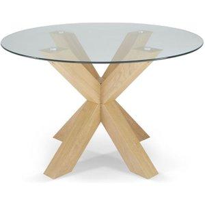 Serene Furnishings Romford Oak Round Dining Table, Oak