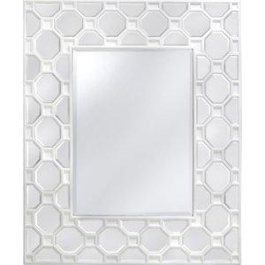Deco Home Rosaro White Rectangular Wall Mirror - 105cm X 126cm, White