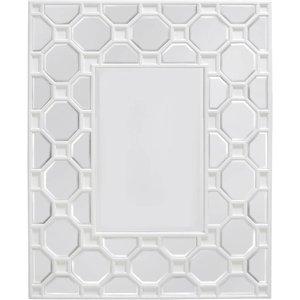 Deco Home Rosaro White Rectangular Wall Mirror - 82cm X 102cm, White