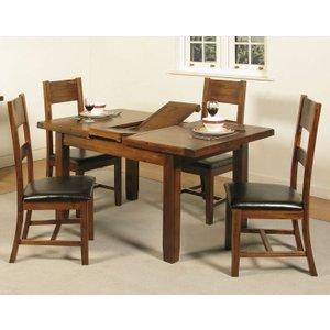 Annaghmore Roscrea Dark Acacia Butterfly Extending Dining Table, Dark Acacia