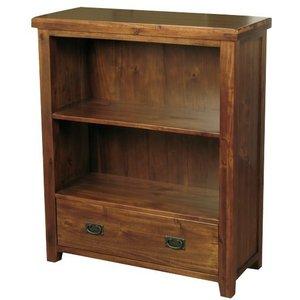 Annaghmore Roscrea Dark Acacia Low Bookcase, Dark Acacia