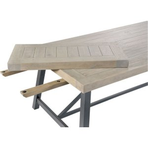 Rowico Lowry Industrial Extension Leaf For Dining Table, Pine and Dark Grey