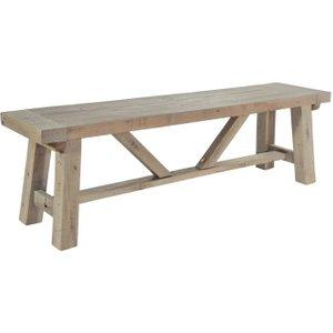 Rowico Saltash Large Dining Bench - Reclaimed Pine, Driftwood