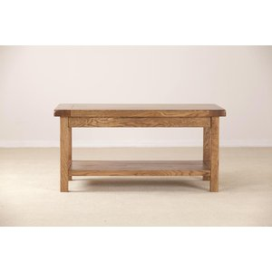 Fortune Woods Rustic Oak Coffee Table, Dark Lacquered