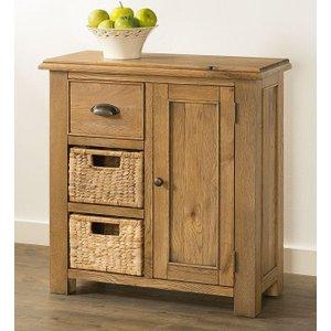 The Oak House Rustica Oak Sideboard With 2 Baskets