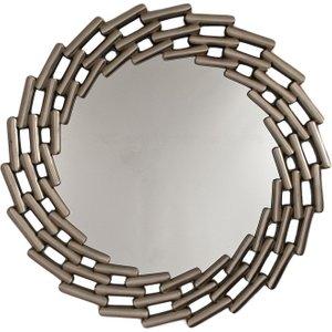 R V Astley Rv Astley Antique Silver Round Mirror - 110cm X 110cm, Silver Leaf