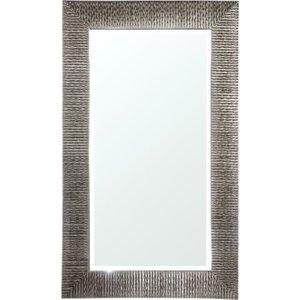 R V Astley Rv Astley Ares Silver Textured Rectangular Mirror - 109cm X 185cm, Silver Texture