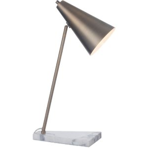 R V Astley Rv Astley Henley Desk Lamp - Antique Brass And White Marble, Antique Brass with White Marble