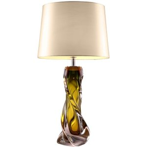 R V Astley Rv Astley Oriana Olive Green Glass Table Lamp Base, Olive Green