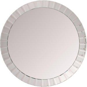 R V Astley Rv Astley Silver Round Mirror - 110cm X 110cm, Silver