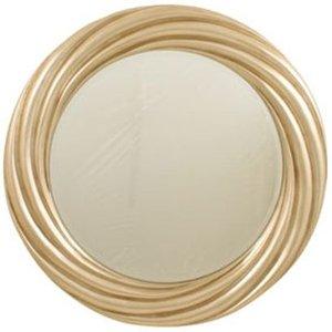R V Astley Rv Astley Swirl Antique Silver Round Mirror - 110cm X 110cm, Antique Silver