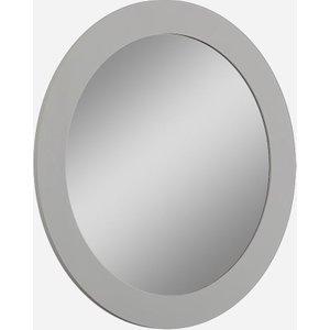 Luxor Furniture Sabron Cashmere High Gloss Oval Mirror, Cashmere High Gloss