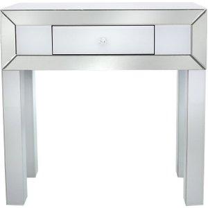 Deco Home Salerno White Mirrored Console Table