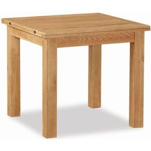 Global Home Salisbury Lite Oak 85cm-170cm Square Extending Dining Table, Oak