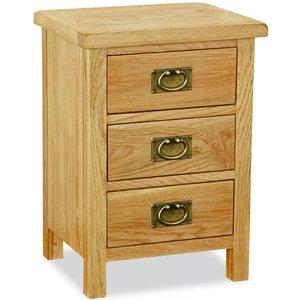 Global Home Salisbury Lite Oak Bedside Cabinet, Oak