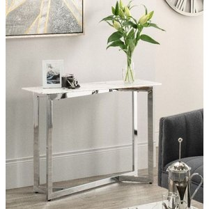Glimmer Furniture Selmont Marble Effect Console Table