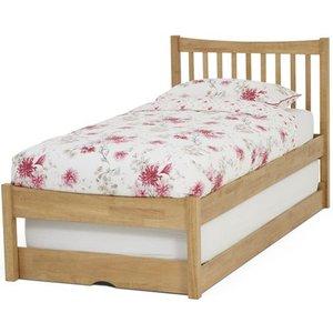 Serene Furnishings Serene Alice Hevea Wood Honey Oak Guest Bed