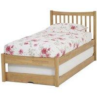 Serene Furnishings Serene Alice Hevea Wood Honey Oak Guest Bed, Honey Oak