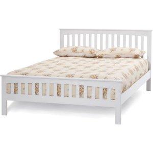 Serene Furnishings Serene Amelia Hevea Wood Opal White Bed, Opal White
